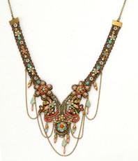 Michal Negrin Jewelry Crystal Flowers Lovely  Chocker