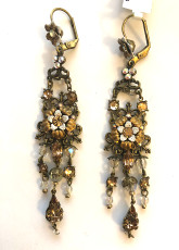 Michal Negrin Crystal Drop Erarings