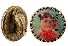 Michal Negrin Jewelry Clips She Shy Earrings - One Left