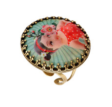 Michal Negrin Jewelry She Shy Ring - 100-106900-068 - Multi Color