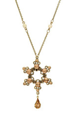 Star Of David Necklace From Michal Negrin Collection - Multi Color