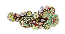 Michal Negrin Jewelry Crystal Flowers Hair Brooch Accessories - 100-107120-999 - Multi Color
