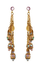 Michal Negrin Jewelry Leaves Hook Earrings - Multi Color