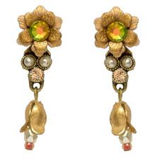 Michal Negrin Jewelry Crystal Flower Earrings - Multi Color