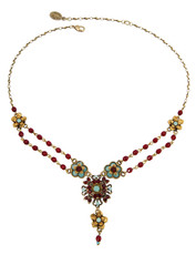 Michal Negrin Jewelry Flowers Necklace - 100-108360-027 - Multi Color