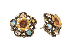 Michal Negrin Jewelry Post Flower Earrings Earrings - Multi Color