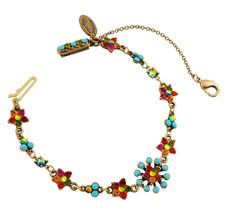 Michal Negrin Jewelry Crystal Star Flower Bracelet - Multi Color