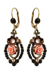 Michal Negrin Jewelry Rose Crystal Earrings - 100-111351-001 - Multi Color