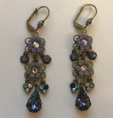 Michal Negrin Crystal Violet Earrings
