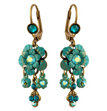 Michal Negrin Jewelry Crystal Flower Earrings - 100-111621-008 - Multi Color