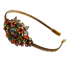 Michal Negrin Jewelry Crystal Flower Camo Tiara - Multi Color