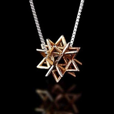 Merkaba Secret Gold Kabbalah Pendant (Small)