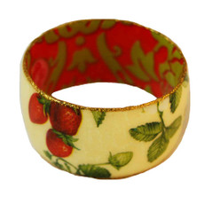 Iris Designs Cold Enamel Strawberries Field Bangle   - One Left