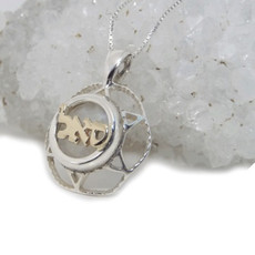 Silver And Gold Star Of David With Unique Design For Abundance