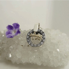Silver Kabbalah Pendant W/ Zarconia Stones For Abundance And Prosperity