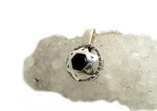 Star Of David Silver Kabbalah Pendant with Onyx Stone