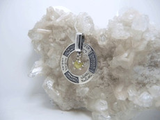 The 12 Kings Silver Kabbalah Pendant With Inserted Cristobil Stone