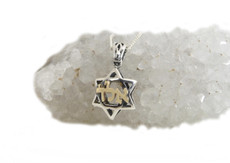Gold And Silver Star Of David Kabbalah Pendant For Protection