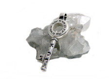 Kabbalah Key From Silver - For Protection Against Bad Eye And Success