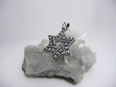 Six Combinations Silver Star Of David W/Unique Design