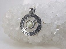 Silver Kabbalah Pendant With Crystobil Stone For Abundance And Prosperity