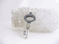 Silver Abundance Key With Cristobil Cat Eye Stone