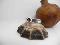 12 Kings Ring W/ Garnet Stone