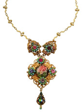 Michal Negrin Classic Flower Camo Necklace - One Left