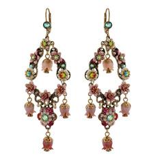 Michal Negrin Classic Bell Hook Flower Earrings - Multi Color
