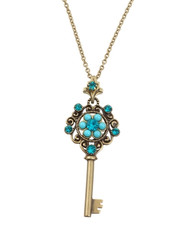 Michal Negrin Kabbalah Key Necklace From The Classic Collection - 100-124520-007 - Multi Color