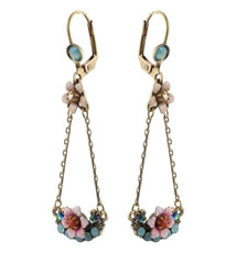 Michal Negrin Classic Drop Flower Earrings - Multi Color