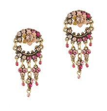 Michal Negrin Classic Post Hanging Crystal Earrings - Multi Color