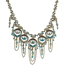 Michal Negrin Classic Circles Crystal Necklace
