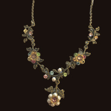 Michal Negrin Classic Vintage Fun Flowers Necklace