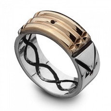 Israeli Jewelry Atlantis Gold And Silver Ring
