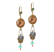 Michal Negrin Hot Air Balloons Hook Earrings - Multi Color