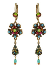 Michal Negrin Classic Earrings Drop Hook - Multi Color
