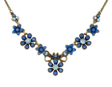 Michal Negrin Jewelry Flower Necklace - 100-129100-076 - Multi Color