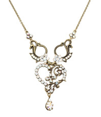Michal Negrin Heart Necklace - Multi Color