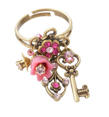 Michal Negrin Classic Ring Key For Luck - Multi Color