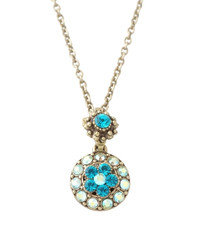 Michal Negrin Classic Necklace Crystal Flower - 100-140330-008 - Multi Color
