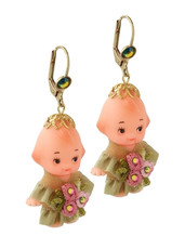 Michal Negrin Classic Earrings Baby Hook - Multi Color