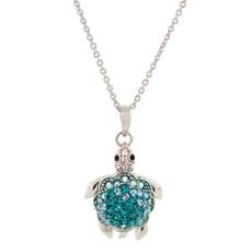 Hamilton Crawford Necklace Turtle Necklace Silver Blue