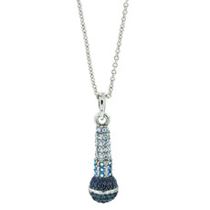 A Lovely Microphone Pendant Silver Necklace From Andrew Hamilton Crawford Jewelry - One Left