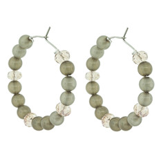 Lovely Beaded Hoops Olive Earrings From Andrew Hamilton Crawford Jewelry