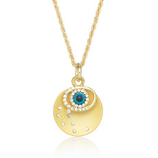 Andrew Hamilton Crawford Necklace Evil Eye Necklace Gold