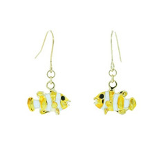 Gorgeous Clown Fish Earrings Gold Yellow Earrings From Andrew Hamilton Crawford Jewelry