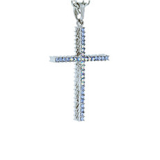 Andrew Hamilton Crawford Necklace Sparkle Cross Silver