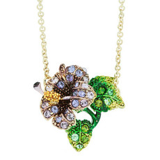 Andrew Hamilton Crawford Necklace Tropical Flower Purple