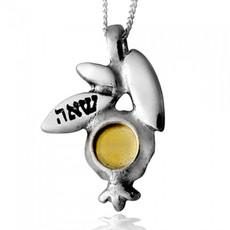 Pomegranate Kabbalah Necklace For Abundance